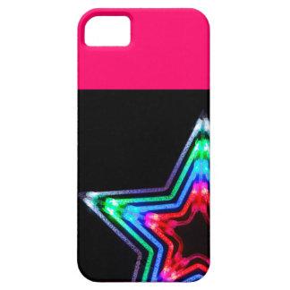 estrella de neón del caso de Barely There del iPhone 5 Funda
