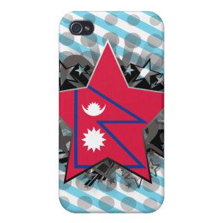 Estrella de Nepal iPhone 4 Funda