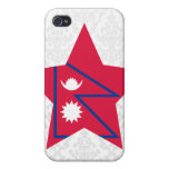 Estrella de Nepal iPhone 4/4S Carcasa