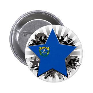 Estrella de Nevada Pin Redondo De 2 Pulgadas