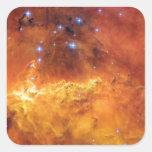 Estrella de NGC 2467 que forma la nebulosa Colcomanias Cuadradas