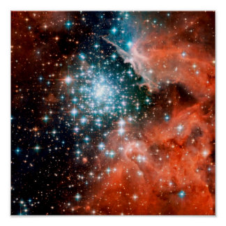 Estrella de NGC 3603 que forma la región Poster