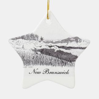 Estrella de Nuevo Brunswick Adorno Navideño De Cerámica En Forma De Estrella