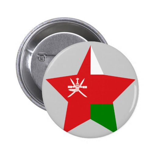 Estrella de Omán Pin Redondo 5 Cm
