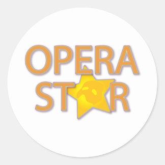 Estrella de ópera etiquetas redondas