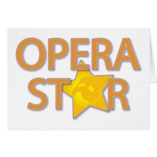 Estrella de ópera tarjeta de felicitación