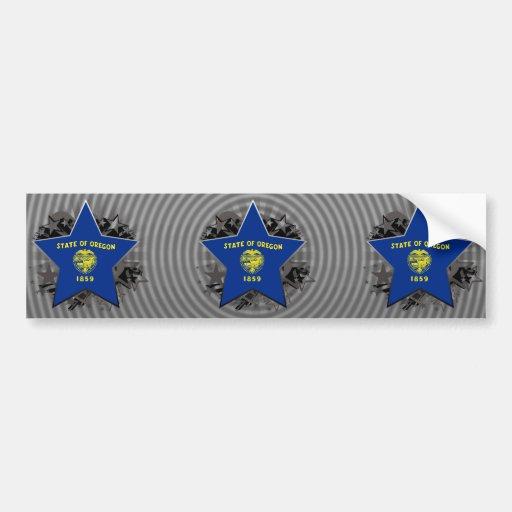 Estrella de Oregon Etiqueta De Parachoque
