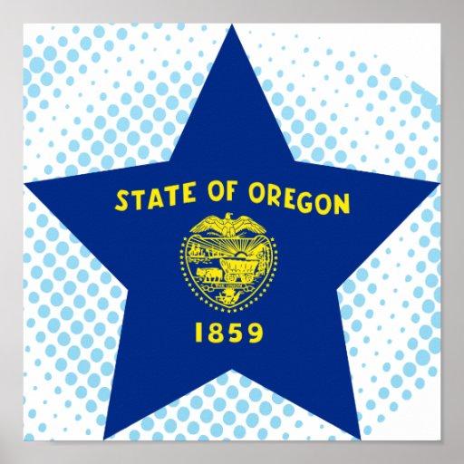 Estrella de Oregon Póster