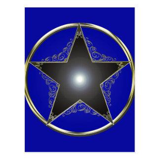 Estrella de oro 2 de 5 puntos postal