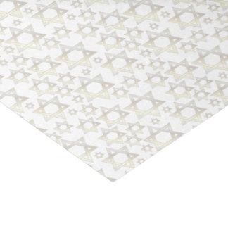 Estrella de oro blanco de David - papel seda