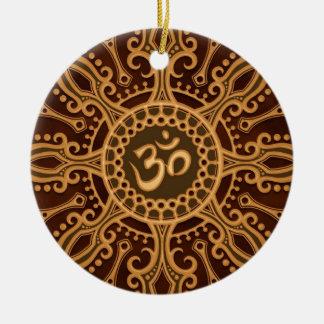 Estrella de oro de Brown Aum Ornamento Para Reyes Magos