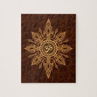 Estrella de oro de Brown Aum Puzzle