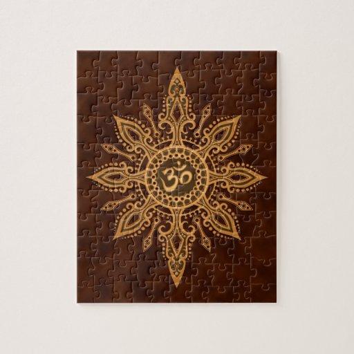 Estrella de oro de Brown Aum Puzzles