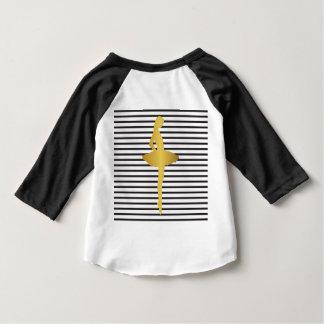 Estrella de oro de las rayas blancas negras camisas