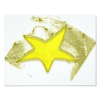 Estrella de oro invitación personalizada