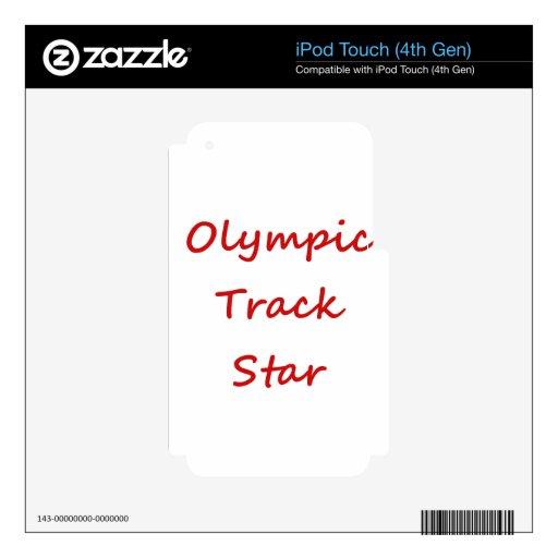 Estrella de pista olímpica calcomanía para iPod touch 4G