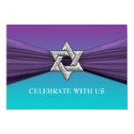 Estrella de plata de Mitzvah del palo de la Anuncios Personalizados