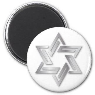 Estrella de plata del imán de David