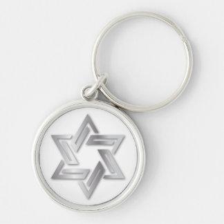 Estrella de plata del llavero de David