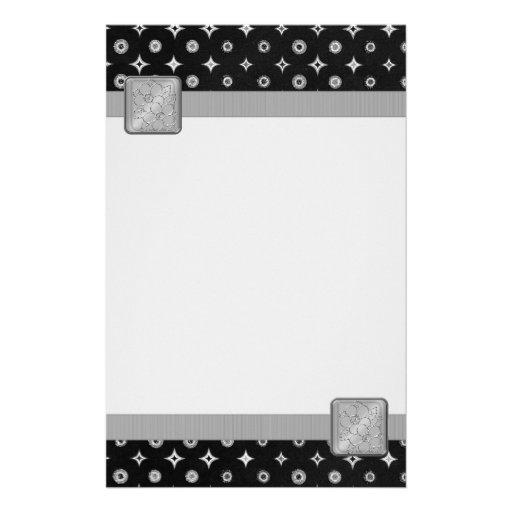 Estrella de plata papelería de diseño
