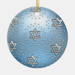 Estrella de plata y cristalina del ornamento de Da