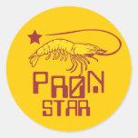 Estrella de Pron Pegatina