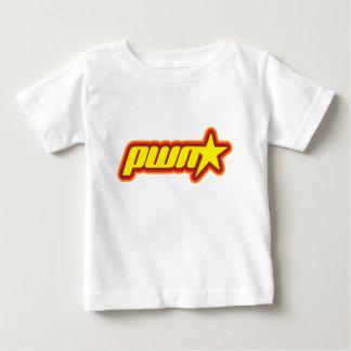 Estrella de Pwn Playera De Bebé