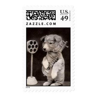Estrella de radio del perrito sello