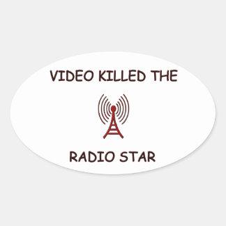 ESTRELLA DE RADIO CALCOMANÍAS DE ÓVALES PERSONALIZADAS