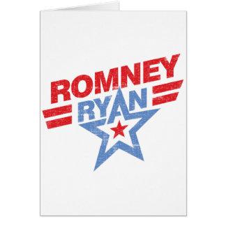 Estrella de Romney Ryan 2012 Tarjeta De Felicitación