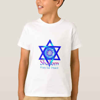 Estrella de SHALOM de David_Pray para la paz de Playera
