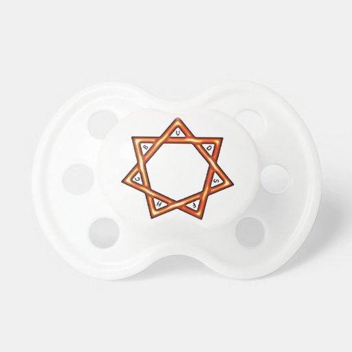 Estrella de siete regalos chupetes de bebé