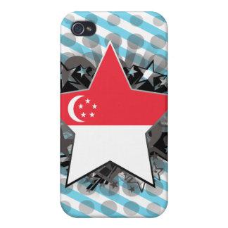 Estrella de Singapur iPhone 4 Funda
