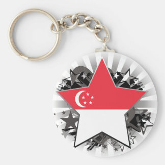 Estrella de Singapur Llavero Personalizado