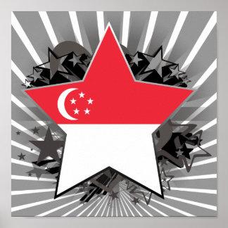 Estrella de Singapur Impresiones