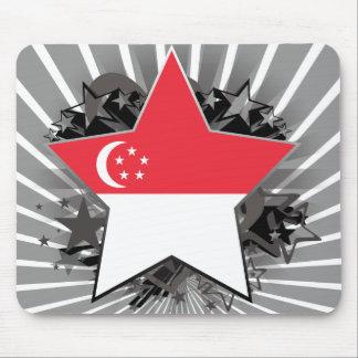 Estrella de Singapur Tapetes De Ratón
