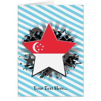 Estrella de Singapur Felicitación