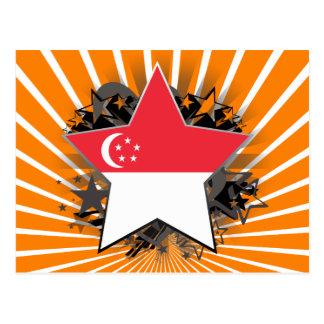 Estrella de Singapur Tarjetas Postales