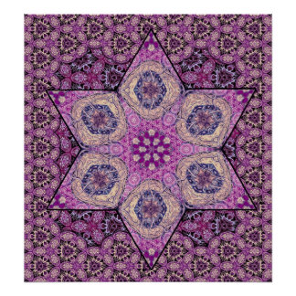Estrella de Siphonophorae - poster púrpura