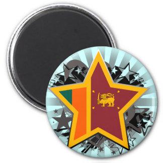 Estrella de Sri Lanka Imán Redondo 5 Cm