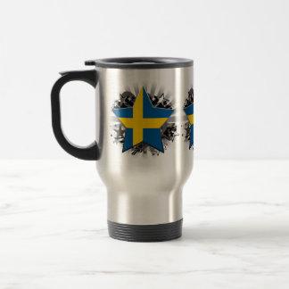 Estrella de Suecia Taza De Viaje De Acero Inoxidable