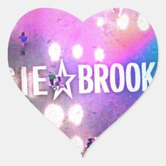Estrella de Susie Brooklyn Pegatina En Forma De Corazón