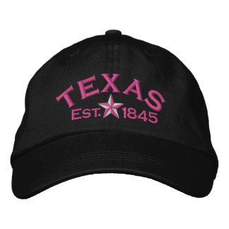 Estrella de Tejas Gorras De Béisbol Bordadas