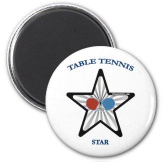 Estrella de tenis de mesa imanes de nevera