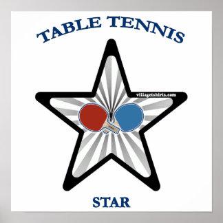 Estrella de tenis de mesa impresiones