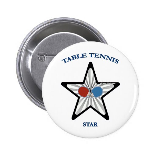 Estrella de tenis de mesa pin redondo 5 cm