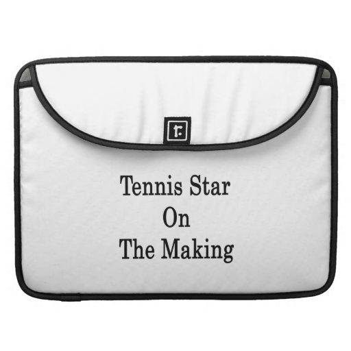 Estrella de tenis en la fabricación fundas para macbooks