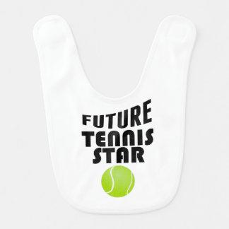 Estrella de tenis futura babero de bebé