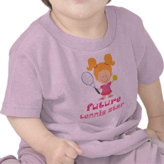 Estrella de tenis futura (jugador) camisetas