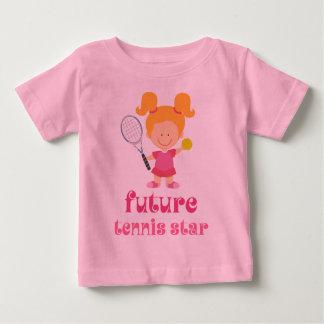 Estrella de tenis futura (jugador) playera de bebé